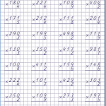 Письменное умножение. Повторение 4 класс