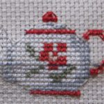 Вышивка крестиком: чайник