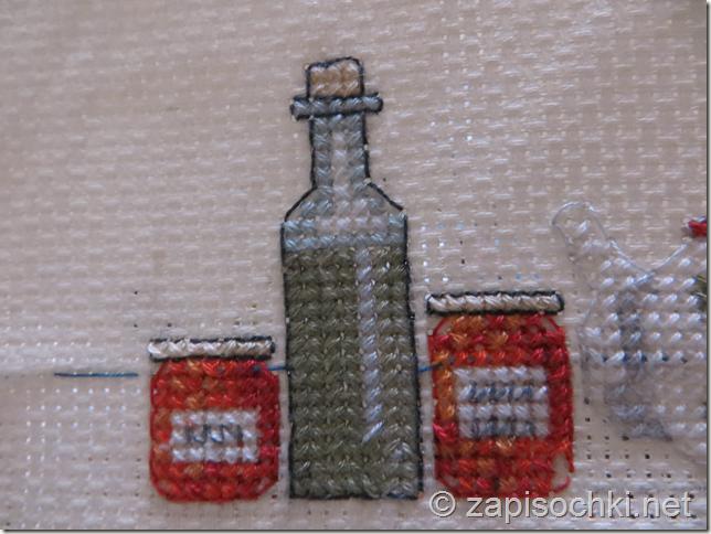 Вышивка крестиком: баночки варенья (схема)